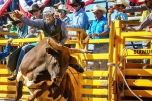 Sitthixay Ditthavong captured the Queanbeyan rodeo in action.