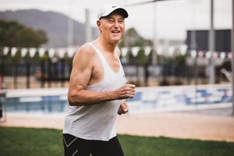 Paul Maggs, 75, runs four times a week, swims and goes to the gym to keep fit.