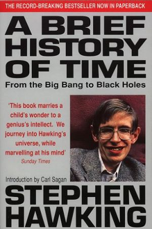 Book cover: A brief history of time (1988).