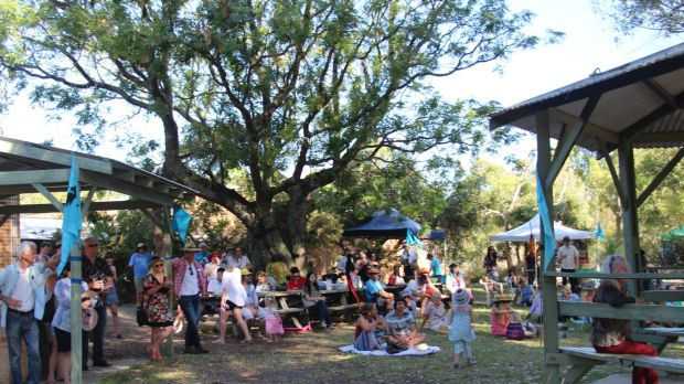 People gathered to celebrate the anniversary of works stopping on Roe 8.