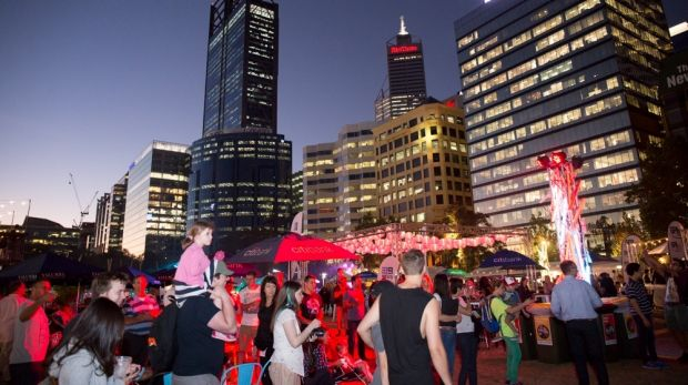 Perth Night Noodle Markets at Elizabeth Quay.