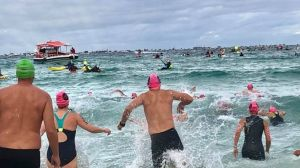 """The Port to Pub swim has been called off due to """"treacherous"""" conditions."""