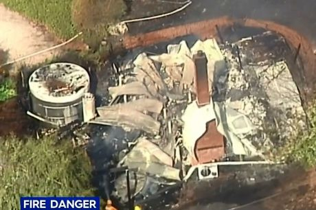 A fire has destroyed two cottages  in Melbourne's outer east.