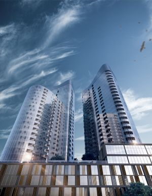 Geocon Republic, when complete, will contain 1213 apartments and Canberra's tallest tower.