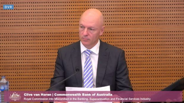 CBA's Clive van Horen said the bank had legal advice that it was not required to tell ASIC about the breach within 10 ...