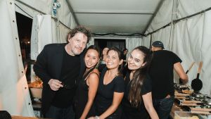 Some of the team from Puffle with Marco Pierre White at Perth's Night Noodle Markets at Elizabeth Quay.