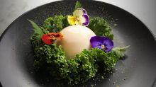 Matcha Mylkbar's vegan 'egg'.
