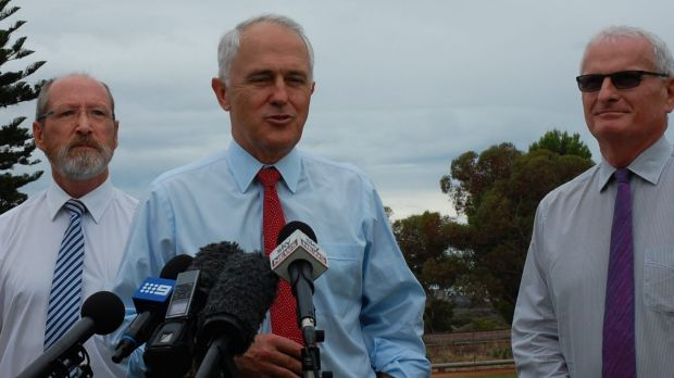 Prime Minister Malcolm Turnbull visits the Whyalla Arrium steelworks, March 2016.