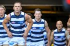 AFL round 2. Hawthorn v Geelong at the MCG Gary Ablett, Joel Selwood, Patrick Dangerfield.
