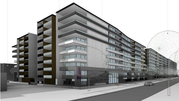 An artist's impression of the Soho development. The apartments are to be across six buildings facing Northbourne in ...