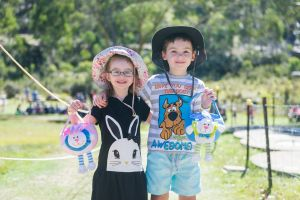 Ivy Fooks, 4 and Kurtis Fooks, 6, from Canberra.