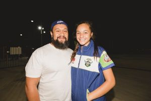 Vaa Lauvao, of Lyons, with his daughter Jada-Lily Lauvao, 12.