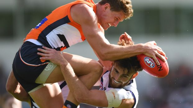The Dockers crashed as GWS handled the windy conditions better on Saturday.