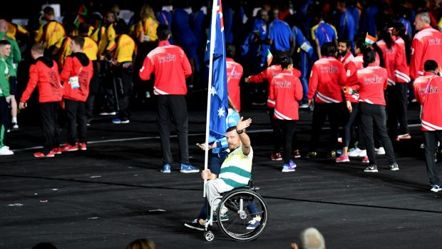 Australian flag bearer Kurt Fearnley was disappointed the athletes entry during the Commonwealth Games closing ceremony ...