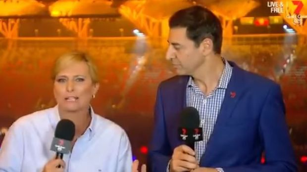 Seven Network commentators Basil Zempilas and Johanna Griggs voiced their fury at the decision to exclude athletes from ...