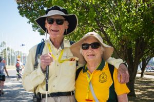 Max Riley, from Sydney, with Pam Thorman, from Albury.