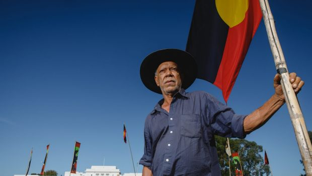 """Frontier Wars Story Camp convener Chris """"Peltherre"""" Tomlins wants to see people of all races come to the Aboriginal Tent ..."""