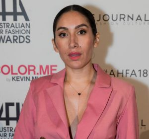 Social Seen: Jen Atkin, celebrity hairdresser to the Kardashians, at 2018 Australian Hair Fashion Awards at Luna Park in ...
