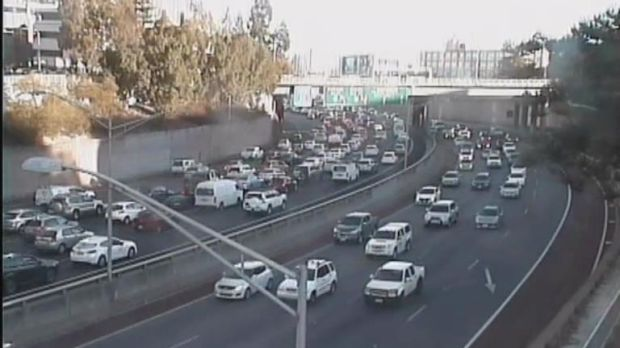 Mitchell Freeway traffic has slowed to a crawl due to a crash near the Perth CBD.