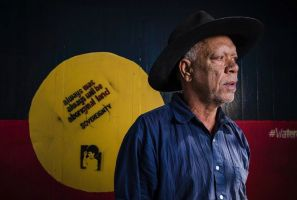 Sitthixay Ditthavong photographed Chris Peltherre Tomlins at The Aboriginal Tent Embassy.