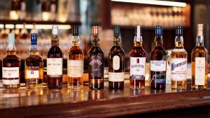 The full lineup of Special Release whisky.