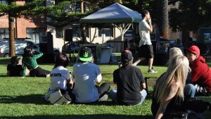 Protesters listened to speakers including a former policeman, and gathered in support of cannabis legalisation in ...