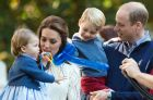 epa06271423 (FILE) - Britain's Prince William, Duke of Cambridge (R), Catherine, Duchess of Cambridge (2-L), with their ...