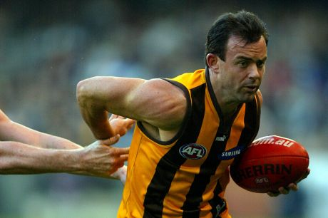 Daniel Harford during his playing days at Hawthorn.