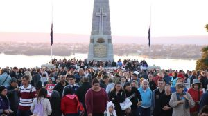 Thousands attended the Dawn Service at Kings Park.