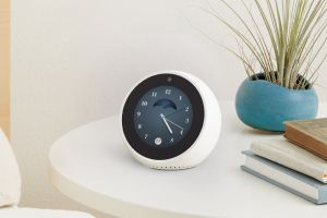 The Echo Spot has a small touchscreen to show you answers and information.