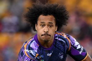 """Felise Kaufusi gets a """"poke"""" from Storm coach Craig Bellamy quite often to fire him up."""