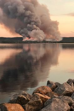 Superintendent Dominic Wood took this photo of the fires threatening homes in Albany.