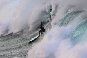 Maroubra locals take on the large ocean swell at Lurline Bay this afternoon. Photograph by Dean Sewell. SMH. News. Taken ...