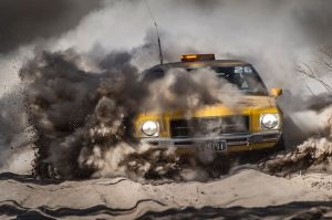 RFDS Trek participants hit a patch of bull dust on the road to Emerald, QLD. The RFDS Trek raises funds each year for ...