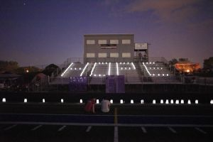 Luminaria Ceremony, to honour those touched by cancer, during Relay For Life event May 18, 2018 on Tartan High School ...