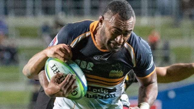 Tevita Kuridrani of the Brumbies during the Round 18 Super Rugby match between the Chiefs and the Brumbies at FMG ...