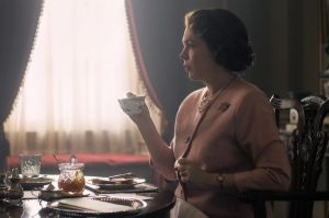 The first glimpse of Olivia Colman in season three of The Crown.