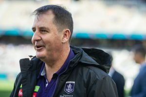 A positive 2018 trade period could shift coach Ross Lyon's expectations of his rebuilding Dockers next season.