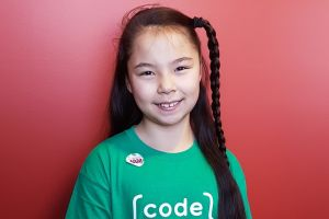 Jasmine Thoroughgood has learned to code using Code Club.