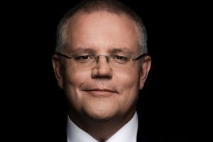 EMBARGOED FOR SATURDAY PAPERS: Portrait of Treasurer Scott Morrison at the Treasury building in Canberra on Wednesday 2 ...