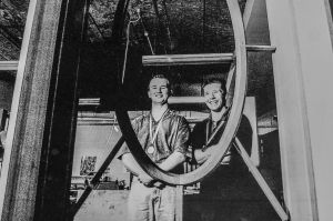 Barry Jackson (left) and Ben Madden, both of the ACT were among medal winners at the Workskill Australia wood trades and ...