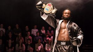 Future D. Fidel's play <i>Prize Fighter</I> tells the story of Isa, a former child soldier turned champion boxer.