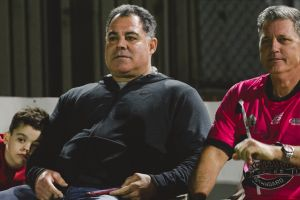 Pie in the Sky charity game featuring some Raiders legends. Mal Meninga.