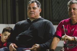 Pie in the Sky charity game featuring some Raiders legends. Mal Meninga. Photo: Jamila Toderas