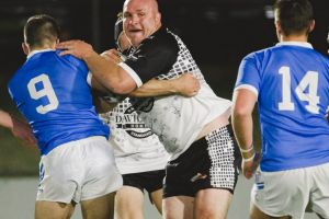 Pie in the Sky charity game featuring some Raiders legends. Michael Weyman