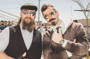 (SOCIALS for print Monday 8th October). The Distinguished Gentleman's Ride Canberra. From left, Jack Johnson of ...