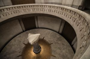 NEWS: First look at the almost $50m efurbishment and completion of the Anzac Memorial in Hyde Park. Sacrifice statue ...