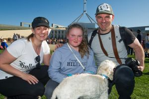 Erica Bacon with Grace and Stuart  Lindenmayer of Wanniassa