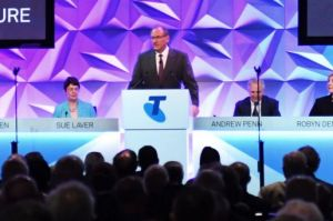 A huge 62 per cent of Telstra shareholders rejected the company's executive bonus payments at the telco's AGM at the ...
