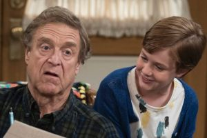 John Goodman as Dan Conner and Ames McNamara as his grandson Mark in <i>The Conners</i>.